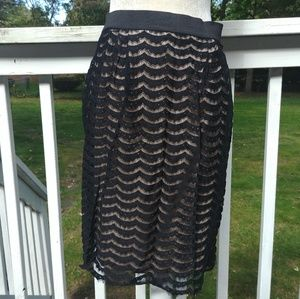 Mossimo Lace Knee Length Pencil Skirt Sz S